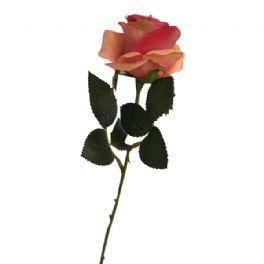 salg af Pink/fersken rose - 45 cm. - kunstige blomster