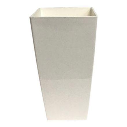 salg af Plast skjuler - Blank hvid - Ø14*H26 cm.