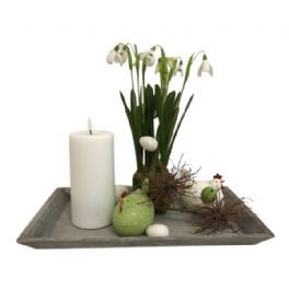salg af Påskedekoration, fad - H30 cm. - kunstige blomster