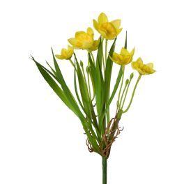 salg af Påskelilje, støbt på stilk - 23 cm. - kunstige blomster