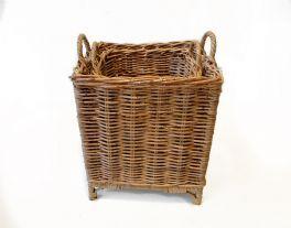 salg af Rattan kurv, firkantet - brun - 45*45*50 cm.