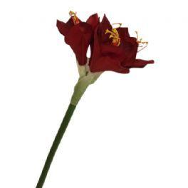 salg af Rød amaryllis, 60 cm. - kunstige blomster