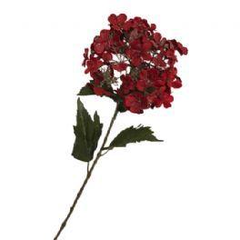 salg af Rød hotensia m/glimmer - 65 cm. - kunstige blomster