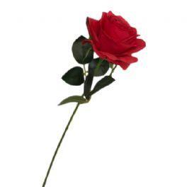 salg af Rød rose - 45 cm. - kunstige blomster