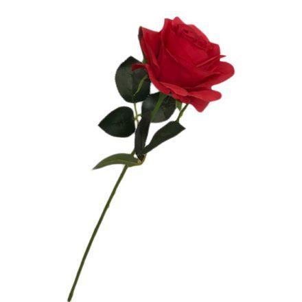 salg af Rød rose, 45 cm. - kunstige blomster