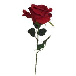 salg af Mørkerød rose, 60 cm. - kunstige blomster