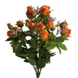 salg af Rosebuket på stilk, orange - 40 cm. - kunstige blomster