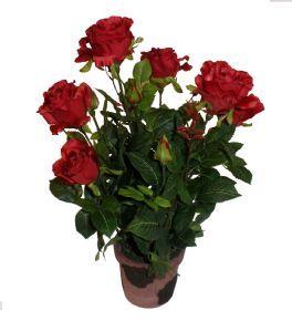 salg af Rose, potteplante 49 cm. - rød - kunstige blomster