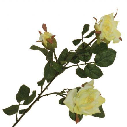 salg af Sart gul rose, 53 cm. - kunstige blomster