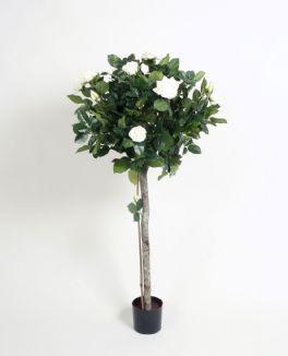 salg af Rose træ opstammet, 140 cm. hvid - kunstige blomster
