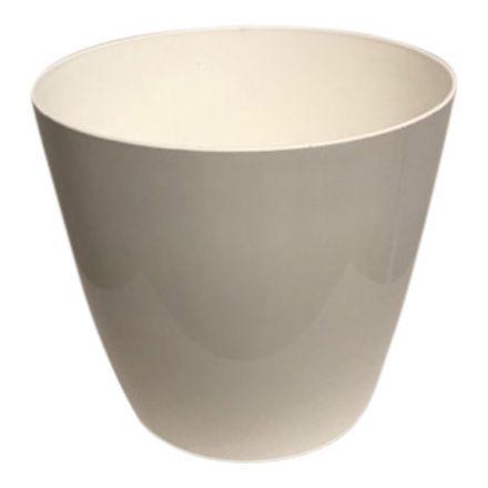 salg af Hvid plast krukke, m/hjul - Ø36-H35 cm.
