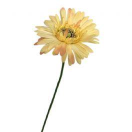salg af Sart gul gerbera - 50 cm. - kunstige blomster