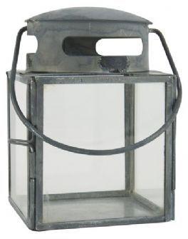 salg af Sink lanterne, H10 cm.