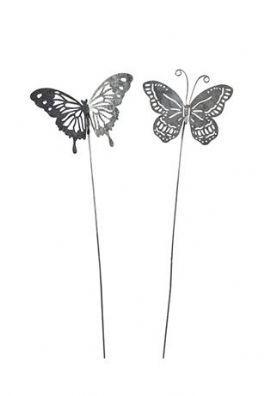 salg af Zink sommerfugle, 2 ass. - 6*10 cm.