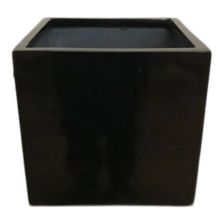 salg af Sort krukke, fiberstone - 30*30*30 cm.