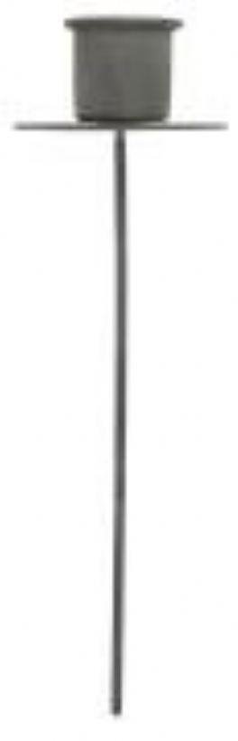 salg af Spyd til stagelys, metal grå - 15 cm.