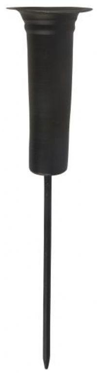 salg af Spyd til stagelys, sort metal - 18 cm.