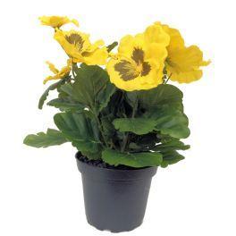 salg af Stedmoderblomst - højde 24 cm. - gul - kunstige blomster