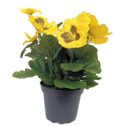 salg af Gul Stedmoder, 24 cm. - kunstige blomster