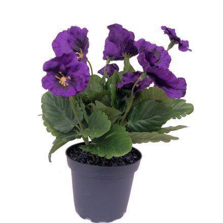 salg af Lilla Stedmoder, 24 cm. - kunstige blomster