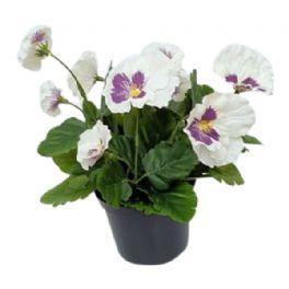 salg af Hvid/lilla Stedmoder, 24 cm. - kunstige blomster