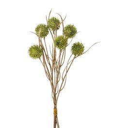 salg af Tidselkugle bundt, grøn - 42 cm. - kunstige blomster