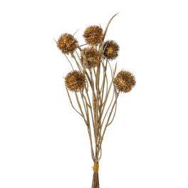 salg af Tidselkugle bundt, brun - 42 cm. - kunstige blomster