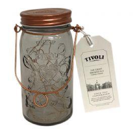 salg af Tivoli lyskæde i glas - kobber - kunstig lys