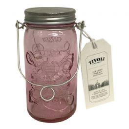 salg af Tivoli lyskæde i glas - rosa - kunstig lys