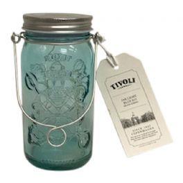 salg af Tivoli lyskæde i glas - turkis - kunstig lys