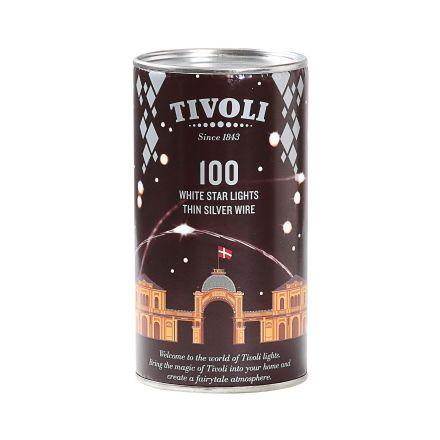 salg af Tivoli lyskæde, sølv - 10 m.