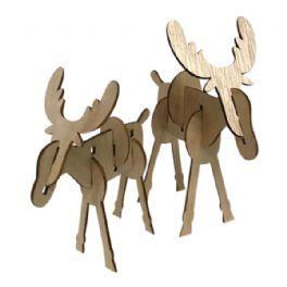 salg af Træ elg, 2. ass. - 12*16 cm.