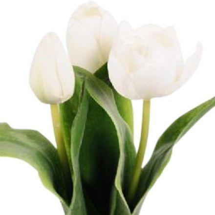 salg af Hvide tulipaner, 36 cm. - kunstige blomster