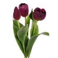 salg af Mørke lilla Tulipaner, 36 cm - kunstige blomster