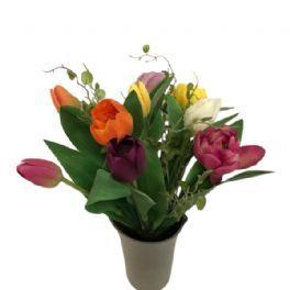 salg af Tulipan buket, 9 stk. mix - kunstige buketter