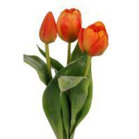 salg af Orange tulipaner, 36 cm. - kunstige blomster