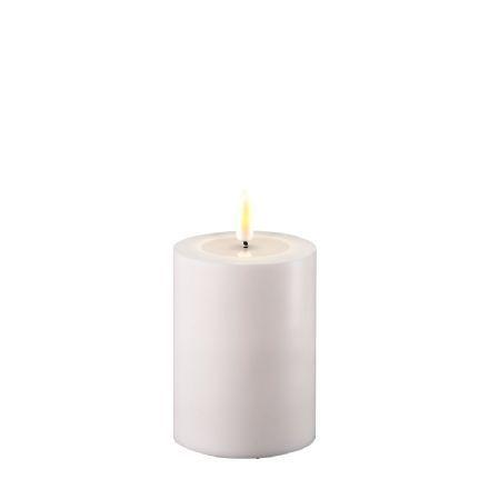 salg af Hvid udendørs LED bloklys, 7,5*10 cm. - kunstige stearinlys