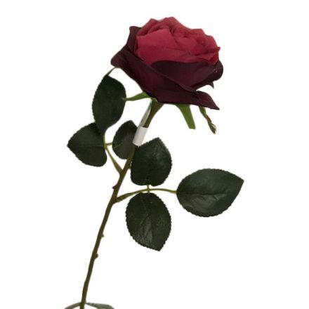 salg af Vinrød rose, 45 cm. - kunstige blomster