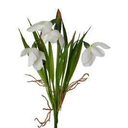 salg af Vintergæk i bundt, 21 cm. kunstige blomster