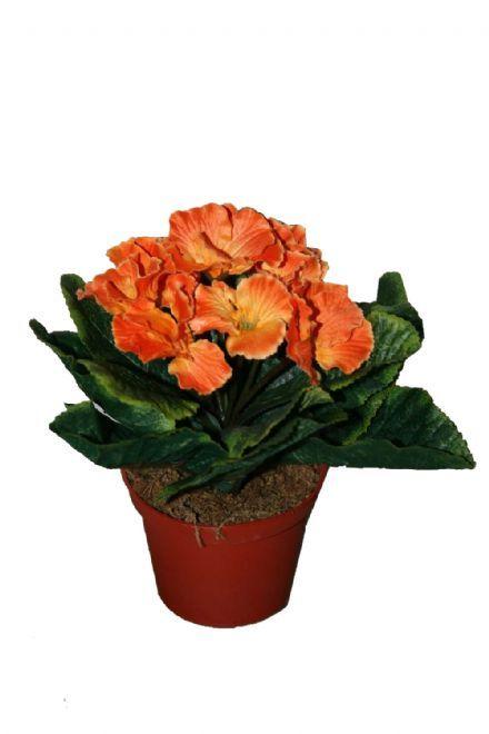 salg af Orange Primula, 18 cm, - kunstige blomster