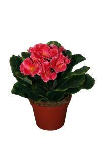 salg af Pink Primula, 18 cm. - kunstige blomster