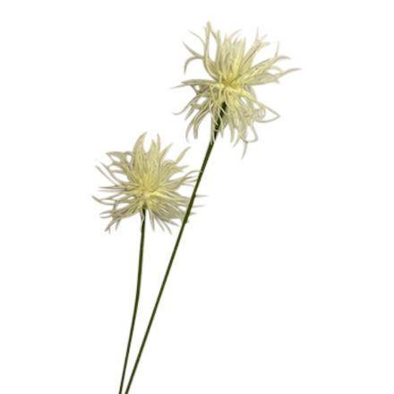 salg af Xantium, creme - 60 cm. - kunstige blomster